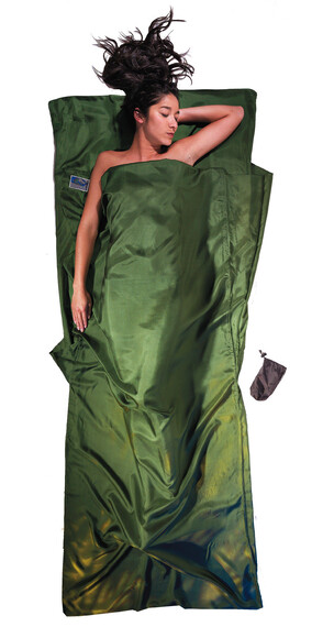 Cocoon TravelSheet Inlet Silk dark olive green